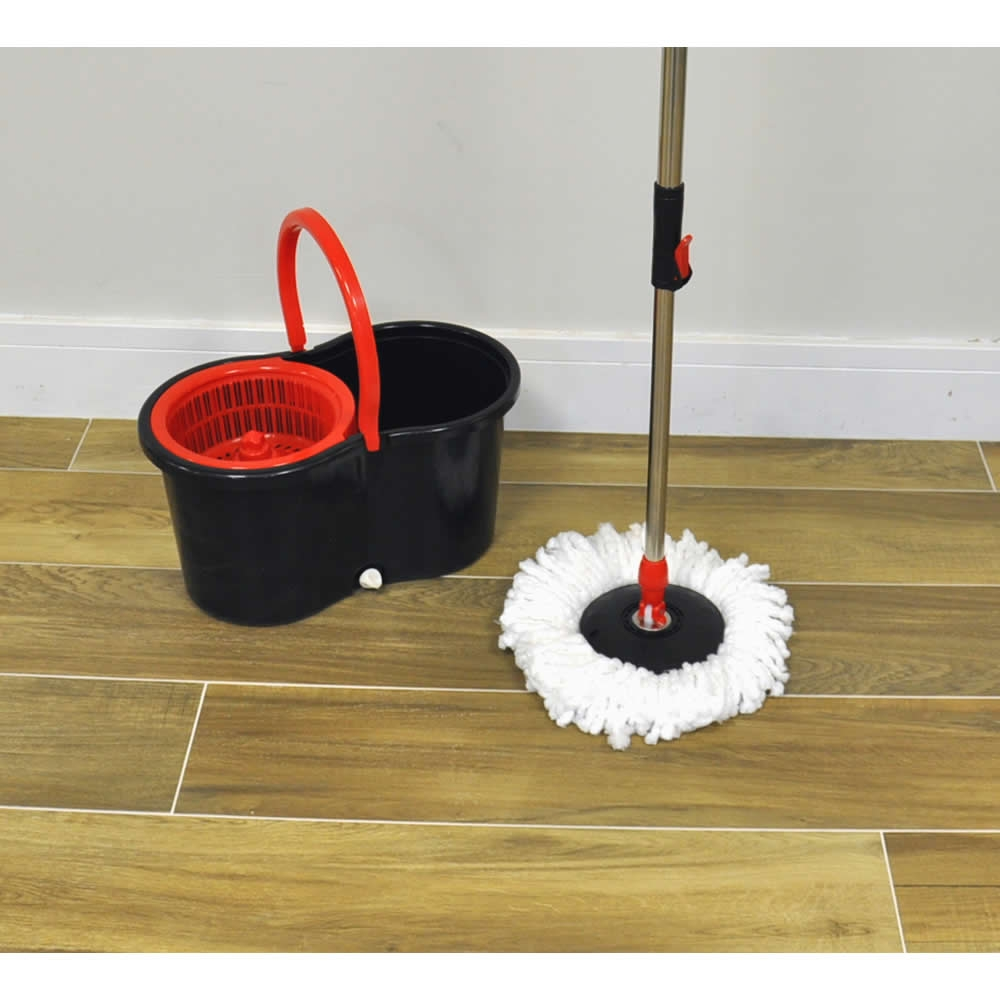 360 176 Spin Mop Amp Bucket Floor Cleaner Adjustable Handle